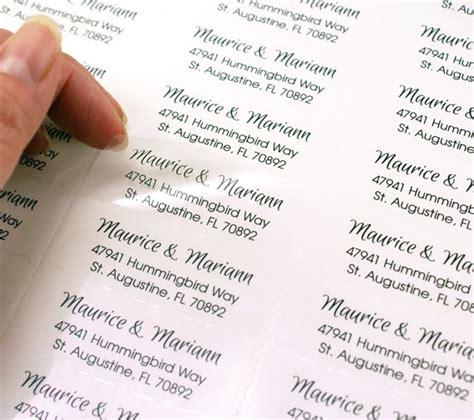 decorative mailing labels for wedding invitations custom print clear address labels 2 5 8 x 1 transparent