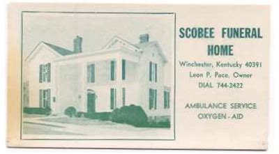 scobee funeral home winchester ky 28 images oliver