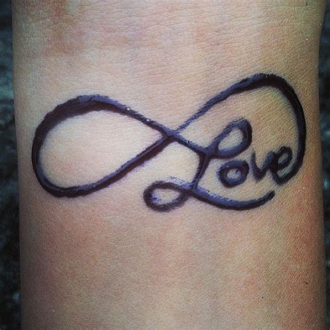 infinity love tattoo on wrist pin infinity tattoos for couples on