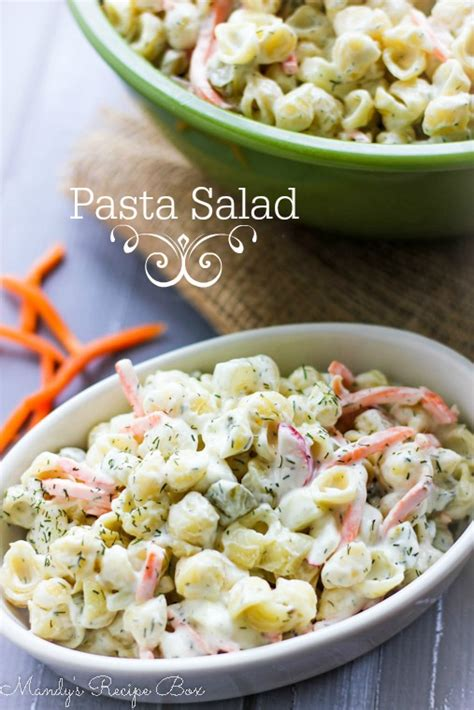 pasta salad box pasta salad mandy s recipe box