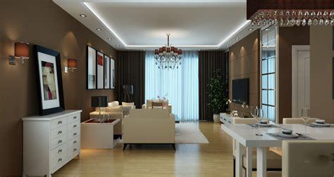 modern living room  dining room  model max
