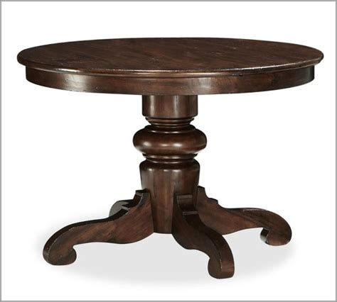 tivoli fixed pedestal dining table tuscan chestnut stain