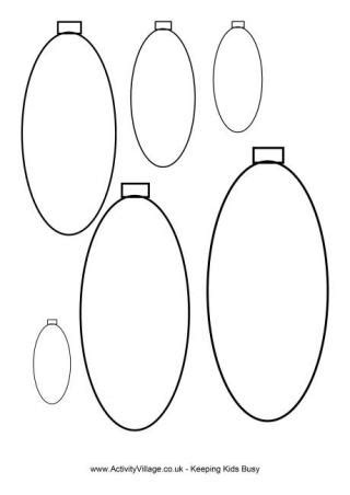 Round Baubles Template Bauble Template Printable