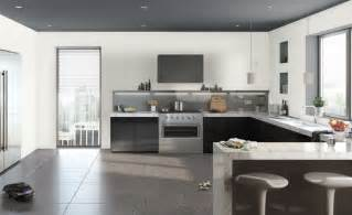 Kitchen without upper cabinets is open and airy image source