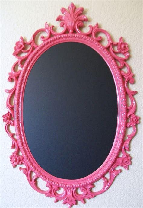 framed chalkboard pink hot pink shabby chic frame baroque
