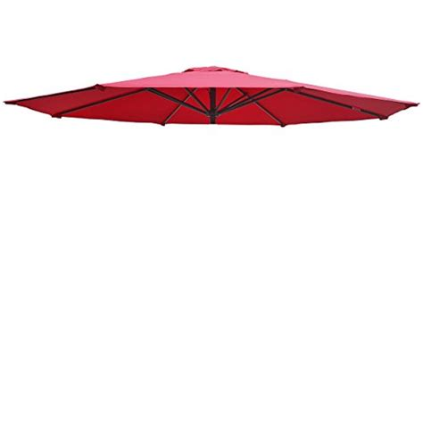 Patio Umbrella Canopy Replacement Patio Umbrella Canopy Cover For 9ft 8 Ribs Umbrella Burgundy Canopy Only Desertcart