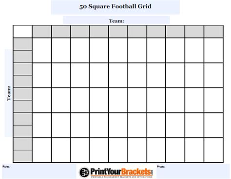 bowl 50 squares template customizable 50 square football grid customize your 50