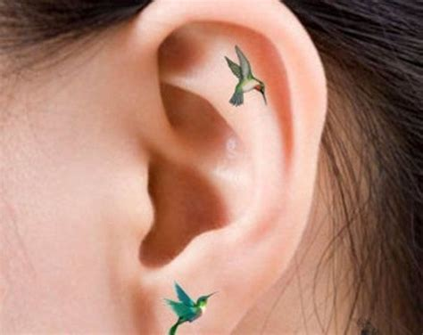 earlobe tattoo designs listen up 90 unisex ear designs