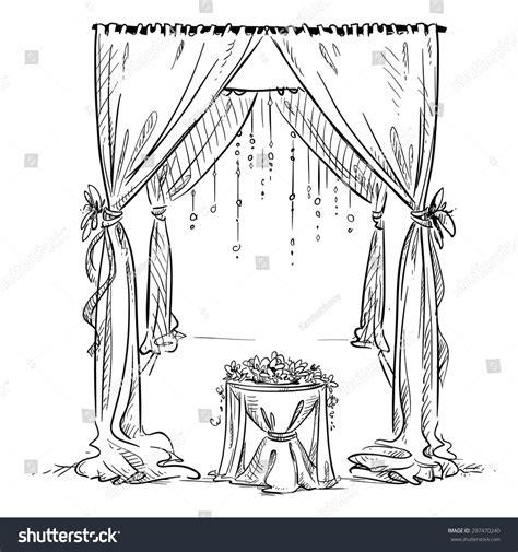 Wedding Arch Vector by Wedding Arch Wedding Altar Decoration Vector Stock Vector