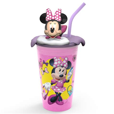 disney minnie mouse funtastic plastic tumbler  straw