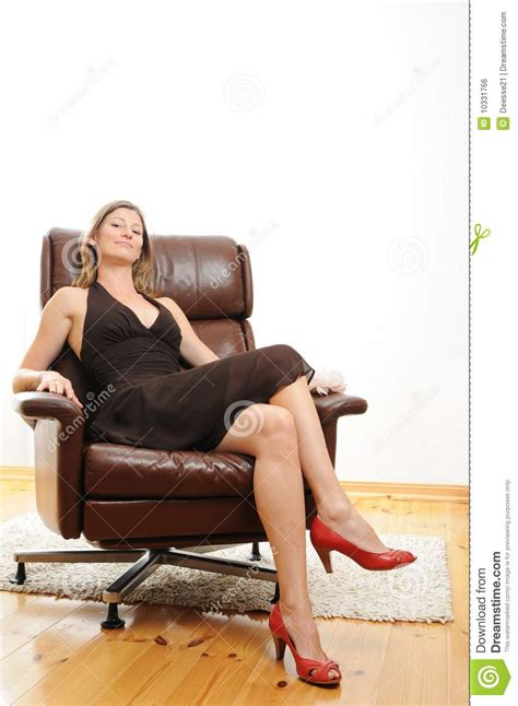 Sitting Easy Chairs Beautiful Sitting In An Easy Chair Royalty Free
