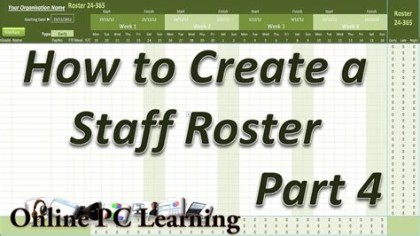 how to create a template for roster how to create a roster template part 4