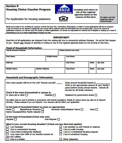 section 8 application forms section 8 housing choice voucher application way finders