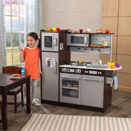 cuisine kidkraft espresso kidkraft uptown espresso kitchen with 30 play food