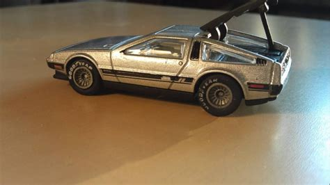 Hotwheels Delorean Dmc 12 custom wheels car 81 delorean dmc 12