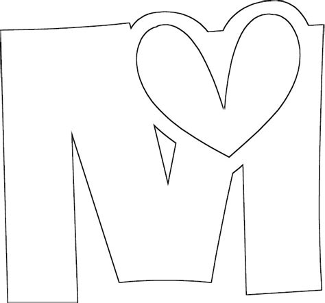 free coloring pages of letter m worksheets