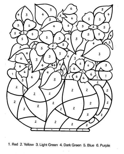 Color By Number Coloring Pages For Kids Az Coloring Pages Color Coloring Pages