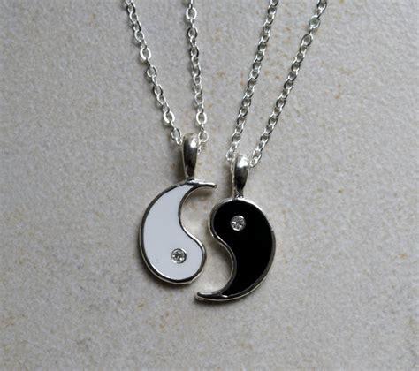 yin yang friendship necklace