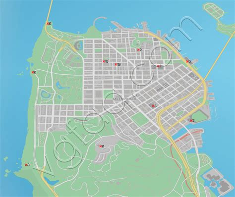 san francisco map data dogs 2 key data locations guide vgfaq