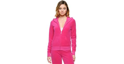 Ori Laurent Dress Atasan Coklat Pink couture logo velour glam original jacket in pink lyst