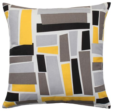 grey yellow pillows throw pillow cover yellow gray black patterned 20 quot x20