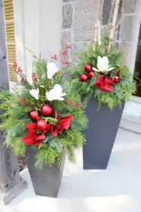 the 25 best ideas about outdoor christmas planters on
