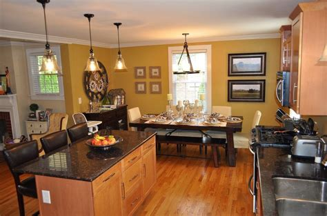 Open Kitchen Dining Room Small Living Room Dining Combo Decorating Ideas Open Concept Igf Usa