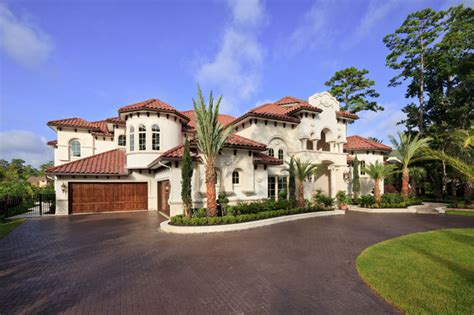mediterranean custom homes woodlands custom home mediterranean exterior houston by sneller custom homes and