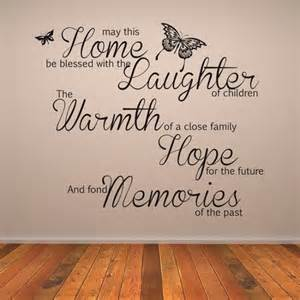 Wall Art Sticker Quotes may this home be blessed wall art quote wall sticker