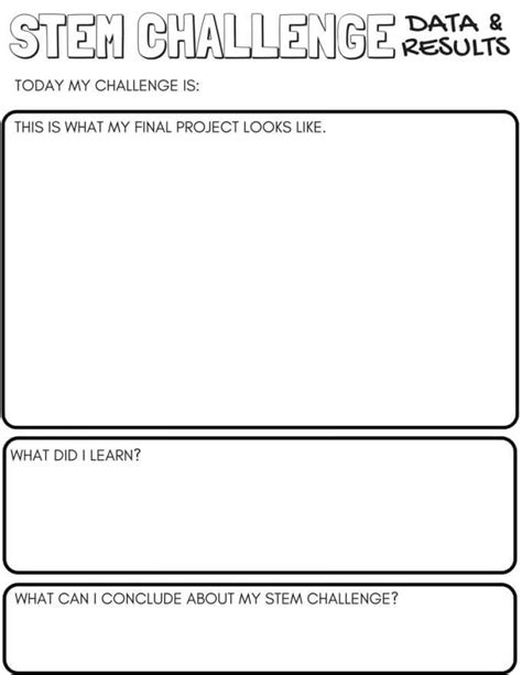 Stem Challenge Worksheets Free Printable Little Bins For Little Hands Stem Planning Template