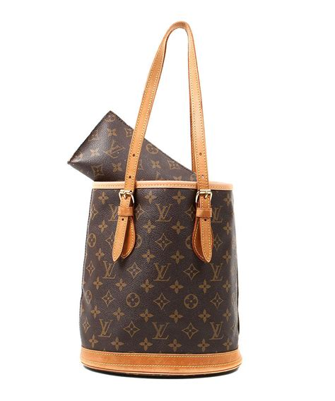 discount brown monogram bucket bag secretsales