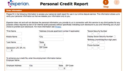 Credit Report Form Experian Your Credit Report Bux2refs Ru
