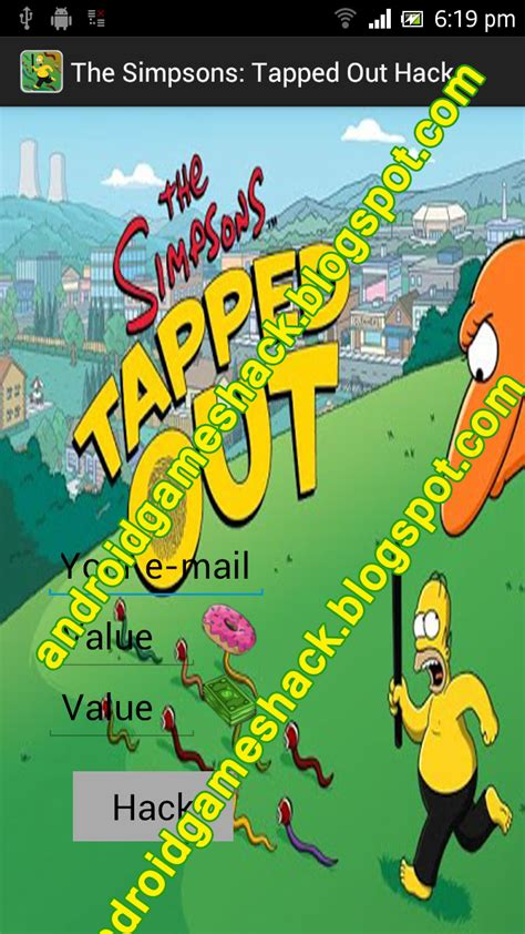 simpsons tapped out hack android sd