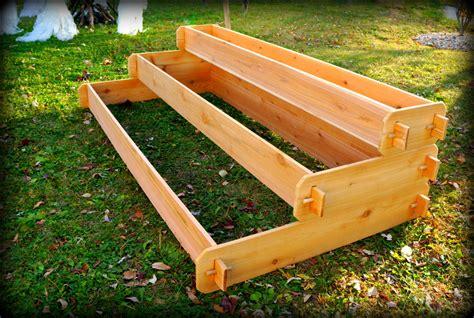tiered raised garden bed large raised cedar garden bed tiered raised by