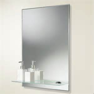 Mirror With Shelf Bathroom » New Home Design