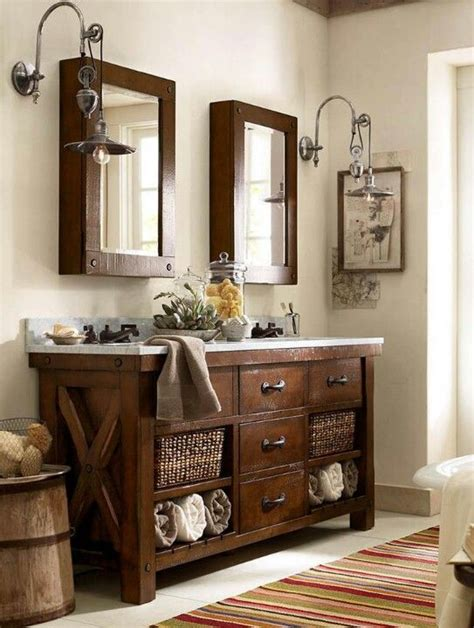 pottery barn bathroom furniture 32 trendy and chic industrial bathroom vanity ideas digsdigs