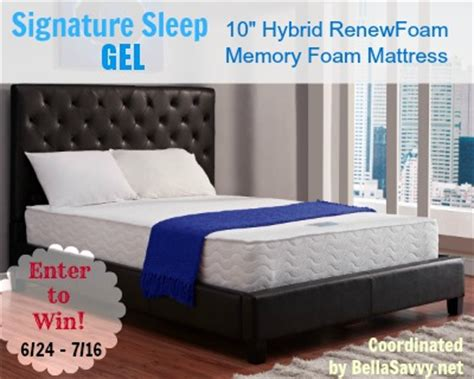 Mattress Giveaway - signature sleep hybrid mattress giveaway the bandit lifestyle