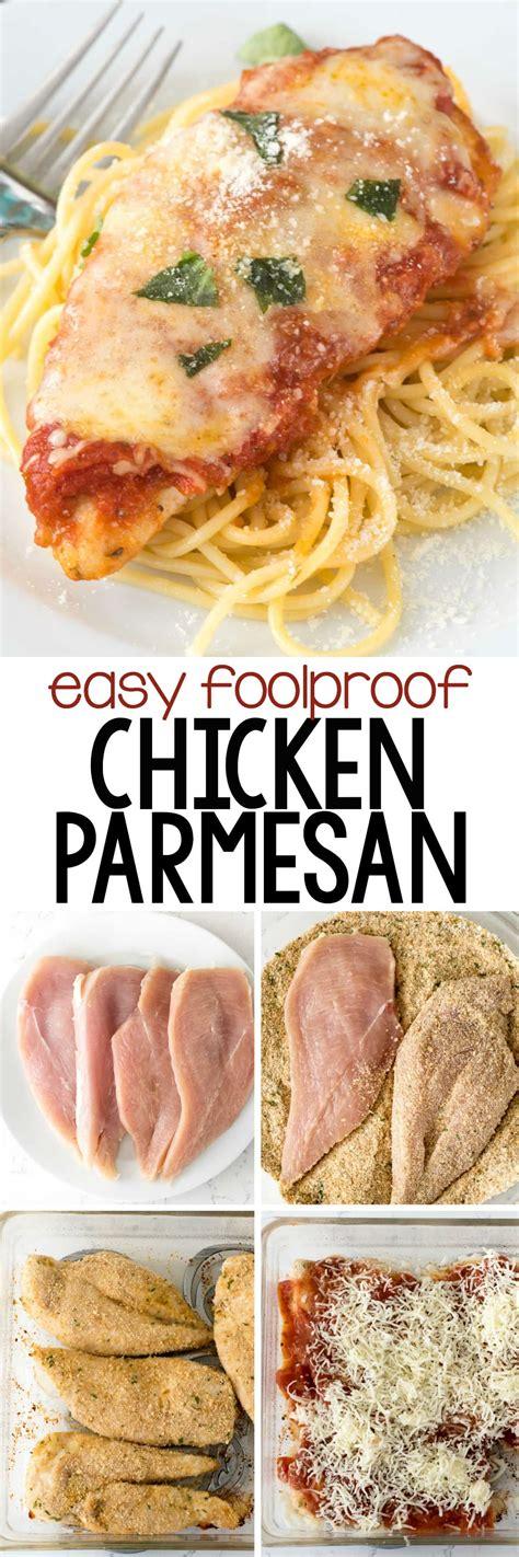 easy chicken parmesan crazy  crust