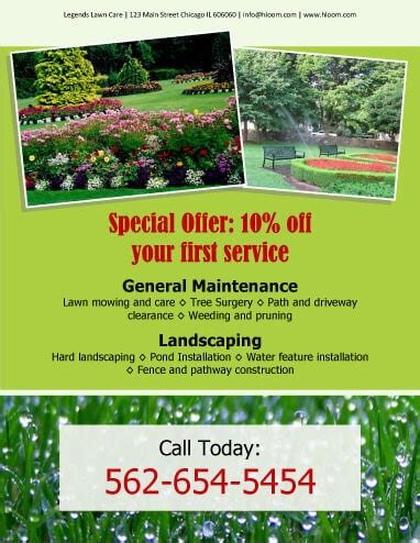 landscape flyer templates 15 lawn care flyers free