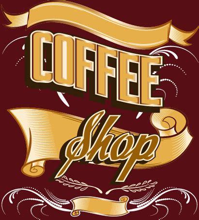 free design shop logo classical coffee shop logos vector set free vector in