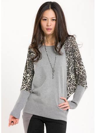 Sweater Leopad Abu Ab fashion leopard bat sweater bottoming shirt sleeve shirt neck on luulla
