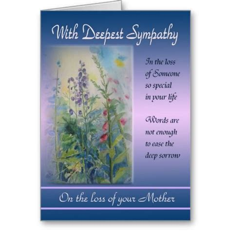 Fineral Greeting Card Template by Loss Of With Deepest Sympathy Card Deepest