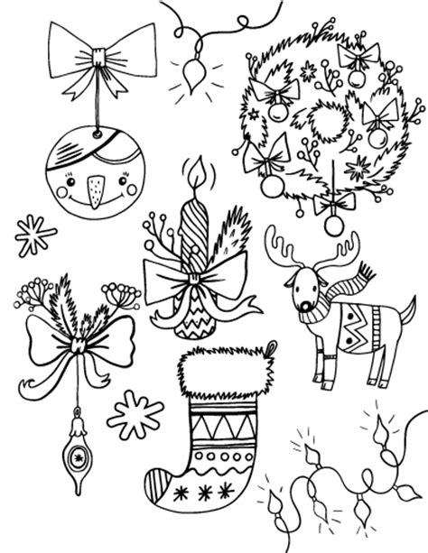 Free Christmas Decorations Coloring Page Printable Coloring Pages Decorations