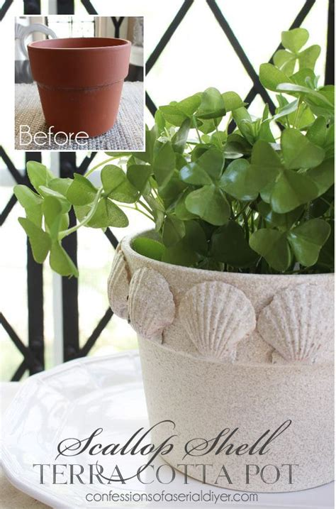 spray painting terracotta pots give a terra cotta pot a beachy makeover with faux