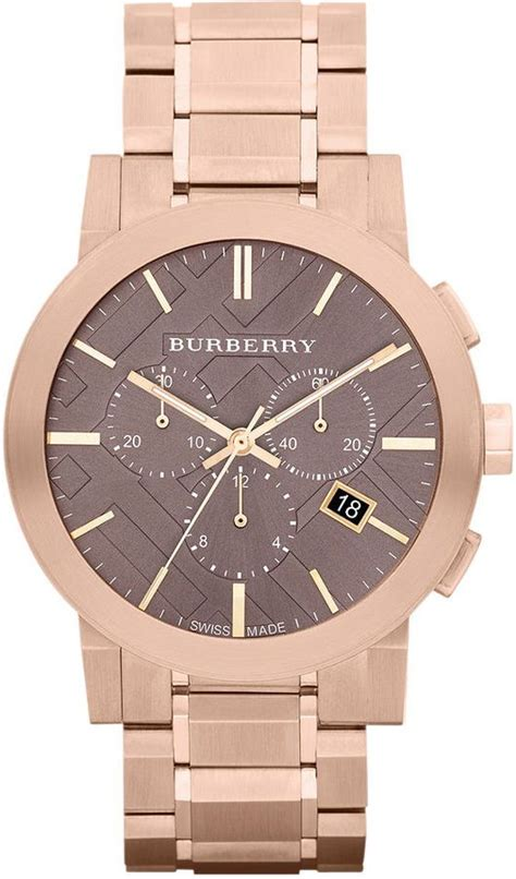 Burberry Bb010 Rosegold F burberry s swiss chronograph gold ion plated stainless steel bracelet my