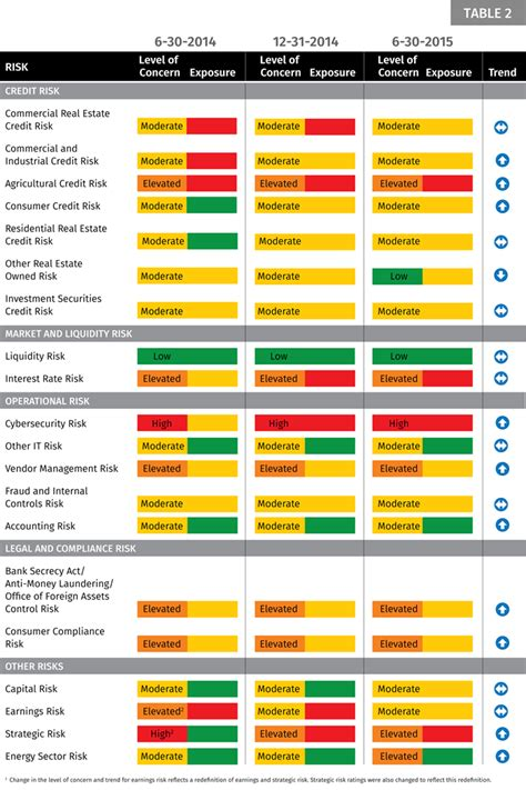 June 2015 Risk List Federal Reserve Bank Of Minneapolis Ffiec Banking Risk Assessment Template