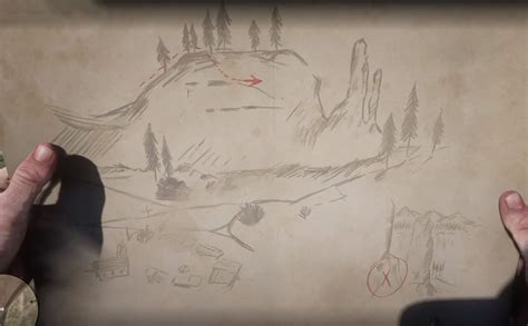 Sketched Map Rdr2 by Dead Redemption 2 Gold Bars Treasure Map
