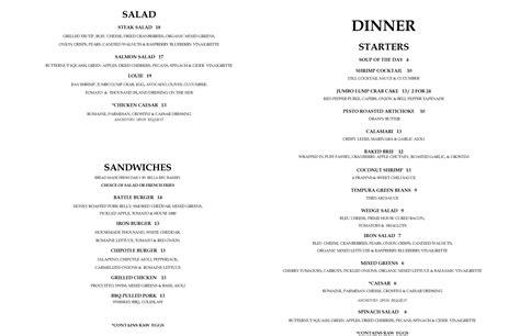 dinner for 4 menu dinner menu