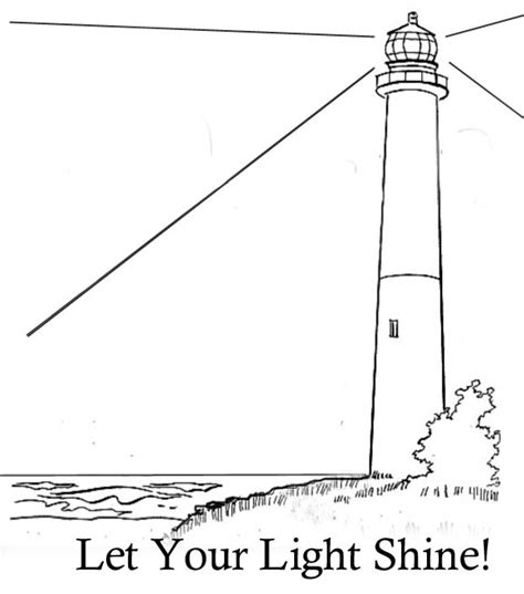 Matthew 5 16 Crafts For Kids Let Your Light Shine Coloring Page