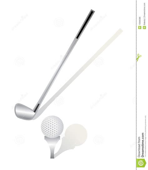 and sticj golf stick and ball royalty free stock image image 13696386